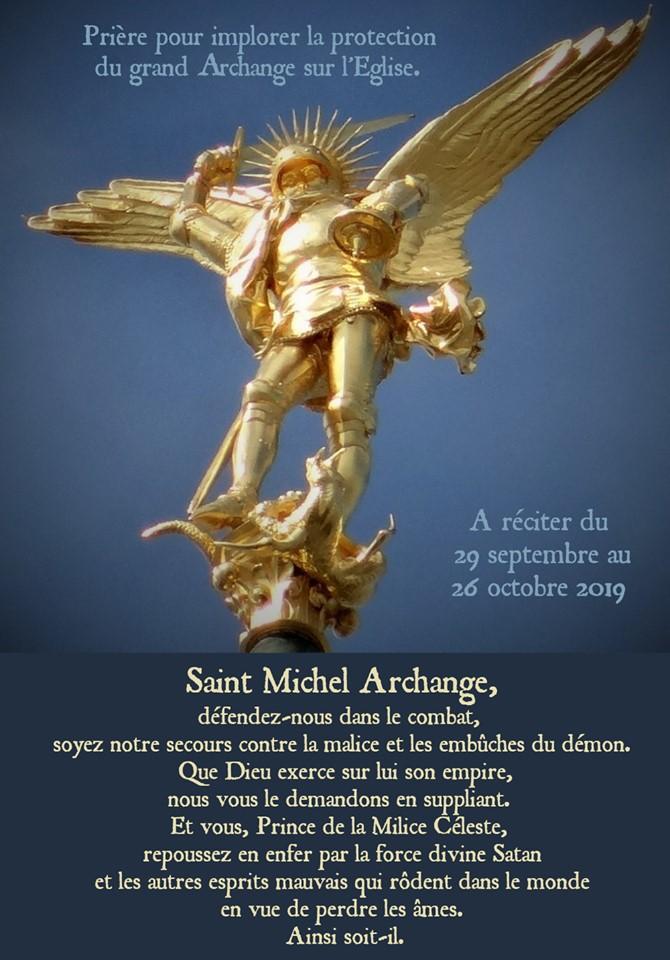 Neuvaine à Saint-Michel Archange - entre le 21 et le 29 septembre Priere-synode-2019